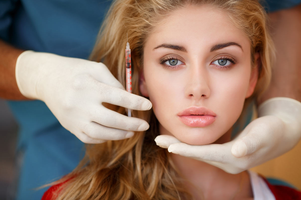 women showing botox treatment